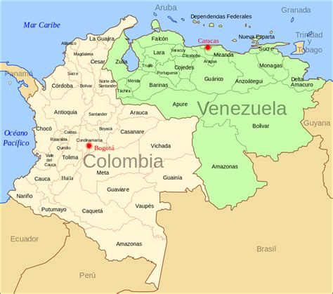 imagenes venezuela colombia file colombia venezuela map svg wikimedia commons