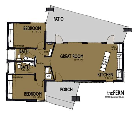Simple Efficient House Plans by Jetson Green The Simple House Offers Modern Affordable