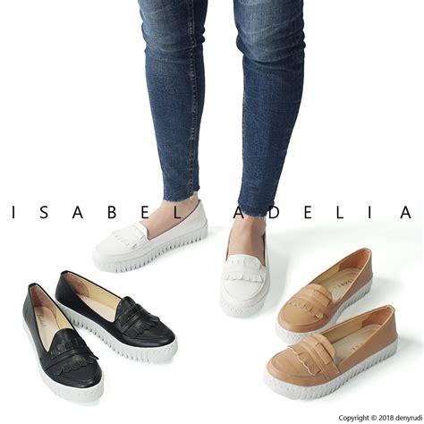 Slip On Putih Terbaru Sepatu Wanita Casual Rndz Murah Distro sepatu wanita casual slip on loafers putih coklat hitam shopee indonesia