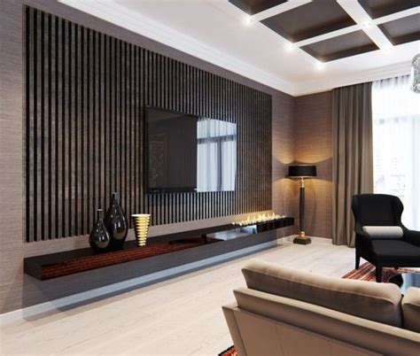 stylish apartment  classic design features tv wall