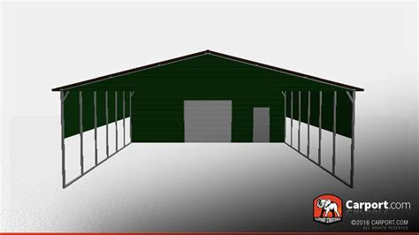 30 X 30 Metal Carport 30 x 50 storage building with vertical roof style shop metal buildings