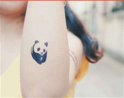 panda chest tattoo girl panda tattoo etsy