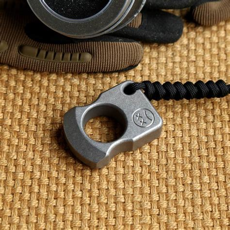 Edc Single Skull Knuckle 2017 andy frankart sfk single finger ring tc4 titanium self defense punch daggers outdoor buckle