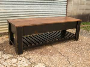 Mission Style Coffee Table Carencro Style Shoe Bench