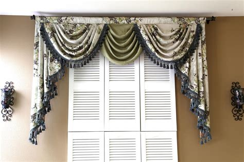 Swag Curtains Images Decor Curtains Valances And Swags Window Treatments Design Ideas