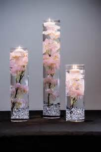 Acrylic Vases Centerpieces by Submersible Pink Or White Cherry Blossom Floral Wedding