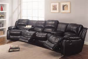 Home theater recliner leather sectional set from johnny concord