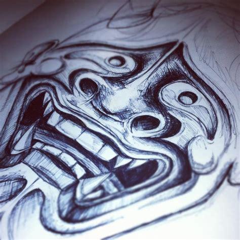 hannya mask tattoo wallpaper hannya sketch by tattoojamie on deviantart