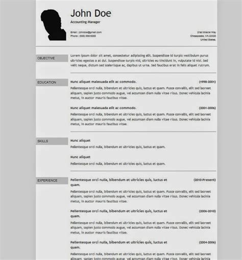 Resume Template Html 50 Free Cv Resumetemplate All Result Bangladesh Admission Routine