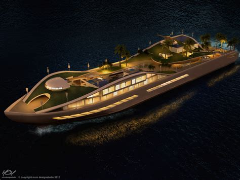 yacht island design this incredible yacht concept is basically a true floating