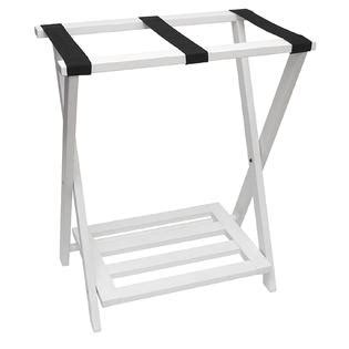 tall luggage rack lipper right height luggage rack with shoe rack white finish
