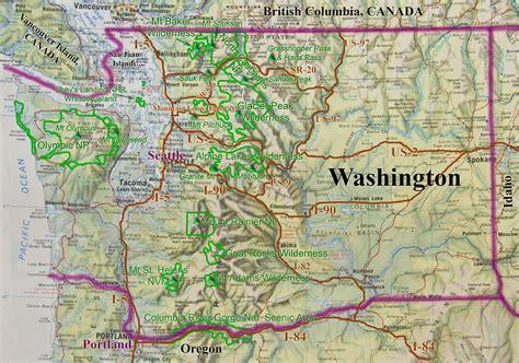 map of washington state usa washington state road recreation map