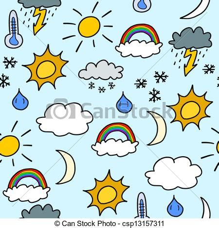 weather pattern drawing seamless weather background doodle seamless background