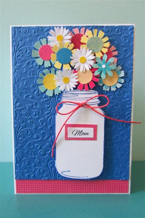 Pretty Handmade Cards - s day card jar cards greeting cards floral