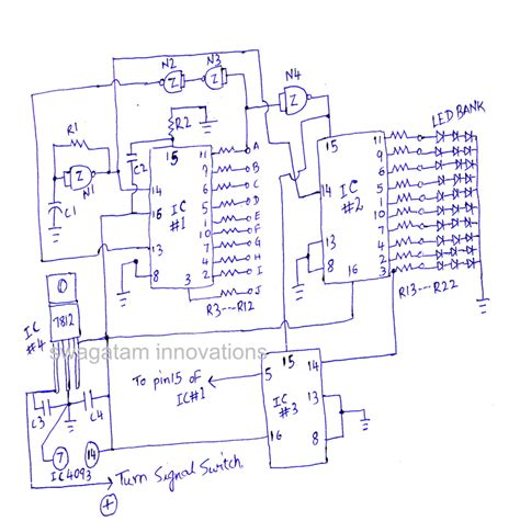 led indicator circuit diagram quot predator quot car led indicator light chaser circuit circuit diagram centre
