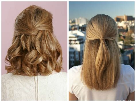 hairstyles when hair is down half up half down hairstyles medium length hair