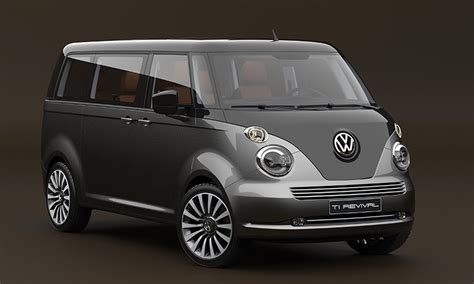 Chery Combi vw t1 microbus revival concept envisioned on t6 platform