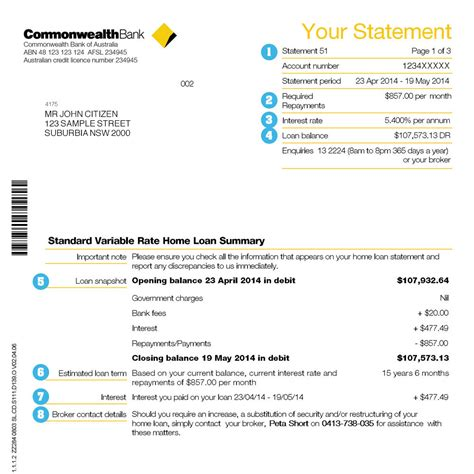 your guide to home loan statements commbank mortgages