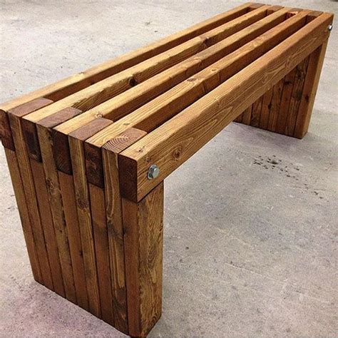 how to make a simple wooden bench best 25 2x4 bench ideas on pinterest diy wood bench