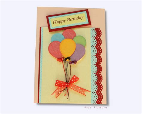 Handmade For Children - handmade cards for paper blossoms