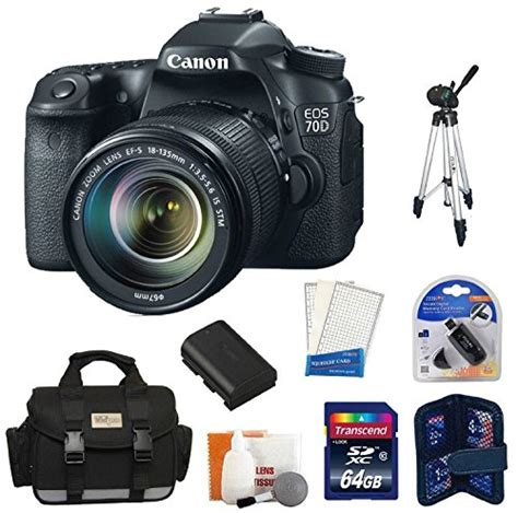 Kamera Canon Eos 70d Kit 2 canon eos 70d 20 2 mp digital slr with dual pixel cmos af and ef s 18 135mm f3 5 5 6 is