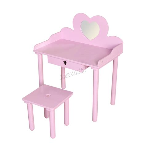 child s dressing table and chair foxhunter dressing table chair set makeup