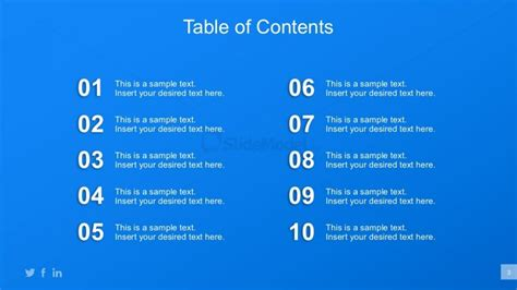 table of contents powerpoint template startups business planning powerpoint tools slidemodel