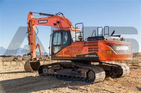 doosan dx255lc excavator drives