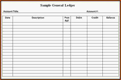 simple ledger template general ledger templates 28 images general ledger