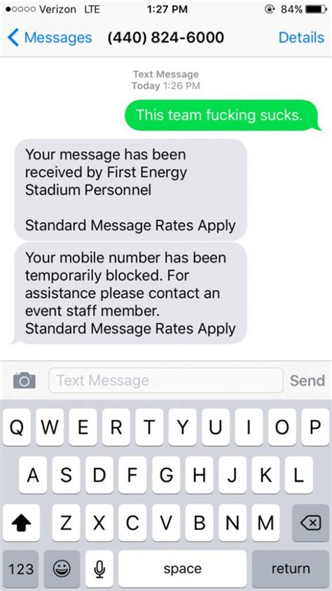 how to block texts from a number on android browns fan texts stadium help line number during browns block him daily snark