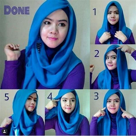 Jilbab Segi Empat Dibuat Pashmina tutorial cara praktis menggunakan segi empat newhairstylesformen2014