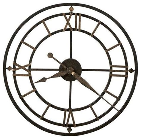 york station 21 quot wrought iron wall clock transitional wall clocks by expressions of time llc