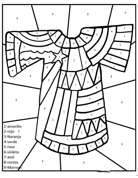 joseph dreamcoat coloring pages colorear tunica jose