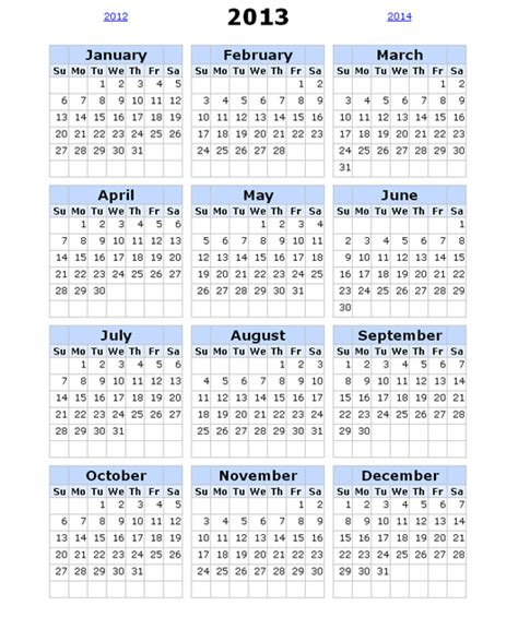 image gallery 2013 calendar template