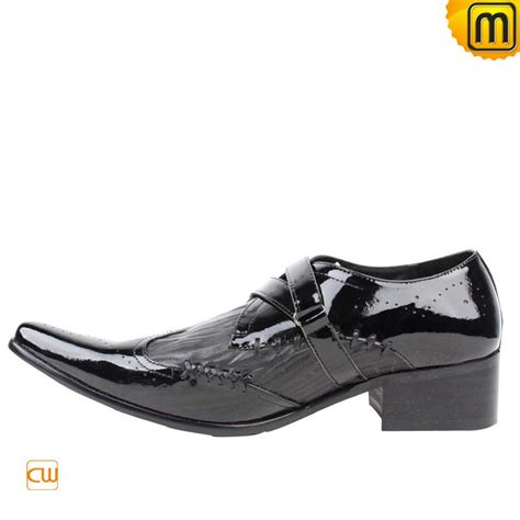 mens designer black leather dress shoes cw760001