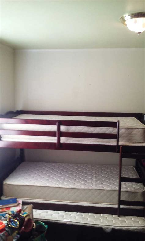 Bunk Beds With Pull Out Bed Underneath Letgo Trundle Bed Bunk Bed With Pull Out In Patton Ca