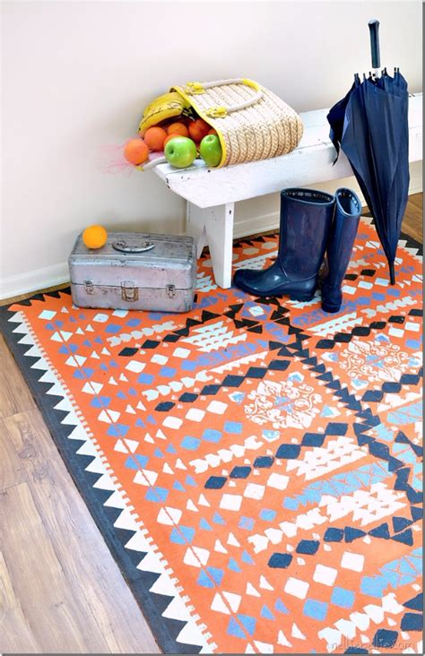 paint a rug diy 32 brilliant diy rugs you can make today diy
