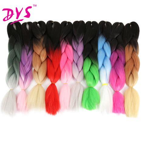 ombre braiding hair deyngs synthetic kanekalon braiding hair 24inch ombre