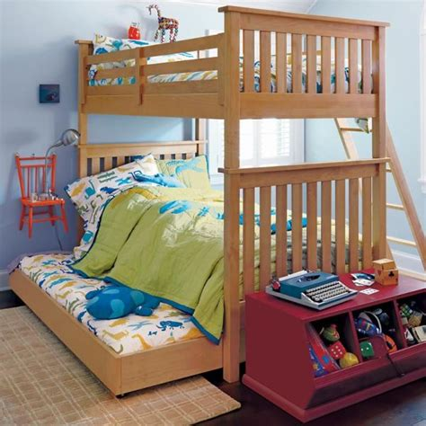 bunk beds for 3 kids wooden bunk bed with a simple and natural look