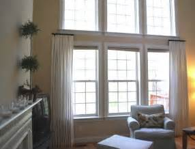 Side Window Curtains Stationary Panels In Family Room For The Home