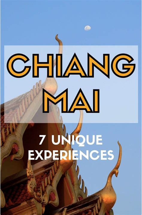 coolest     chiang mai top  experiences