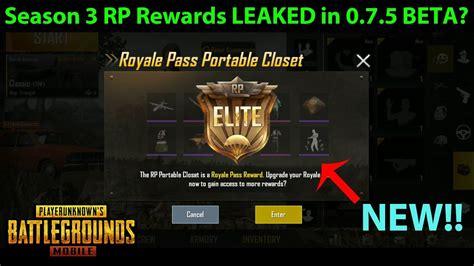 pubg upgrader season 3 rp rewards found other changes in pubg mobile 0