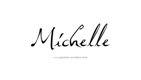 michelle tattoo designs name designs