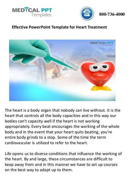 effective powerpoint template for heart treatment