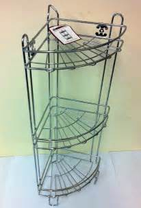 Bathroom Shower Racks Shower Caddy 3 Tier Corner Rack Free Standing Chrome New Bathroom Stylish Ebay