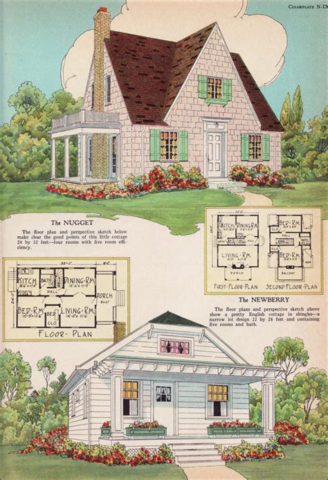 vintage cottage house plans radford house plans 1925 nugget and newberry small house inspiration for today s