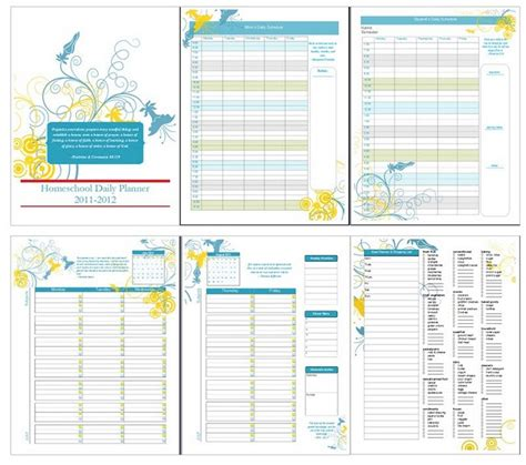 free printable homeschool lesson planners 5 best images of homeschool weekly planner printable