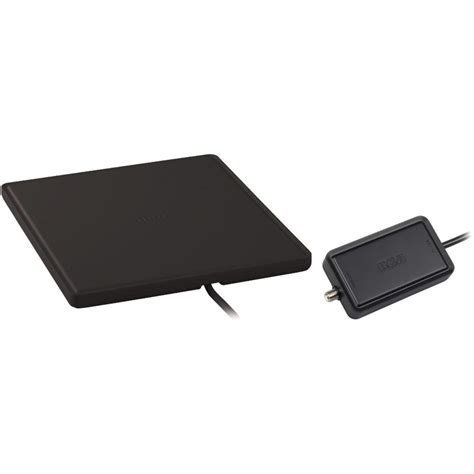 rca home theater style multi directional digital flat lified antenna black ant1450bf the