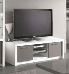 meuble tv gris laque pas cher