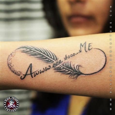 incredible tattoo designs 45 amazing infinity wonderful feather tattoos golfian